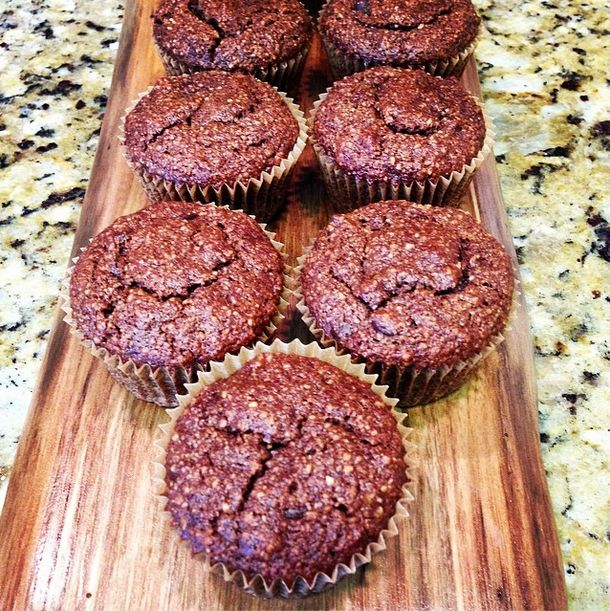 recipe: Double Chocolate Banana Almond Muffins | Gluten Free Banana ...