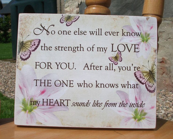Strength of my love for you, mum plaque, mother plaque, butterflies, HANDMADE