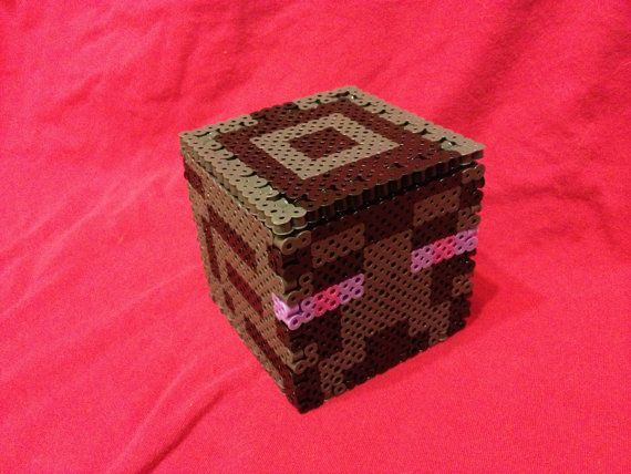 17 best images about minecraft stuff perler bead minecraft enderman head inspired box made of perler beads removable lid