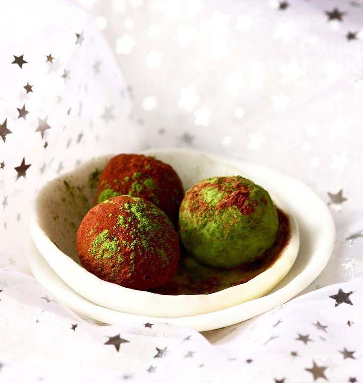 Truffes au chocolat noir, pistache et orange douce - les meilleures recettes de cuisine d'Ôdélices