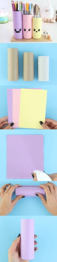 Adorables Lapiceros De Colores #Kawaii #Fácil otra opción desde lapicera 2