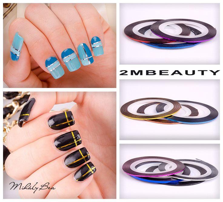2mbeauty nail decoration with metallic kit