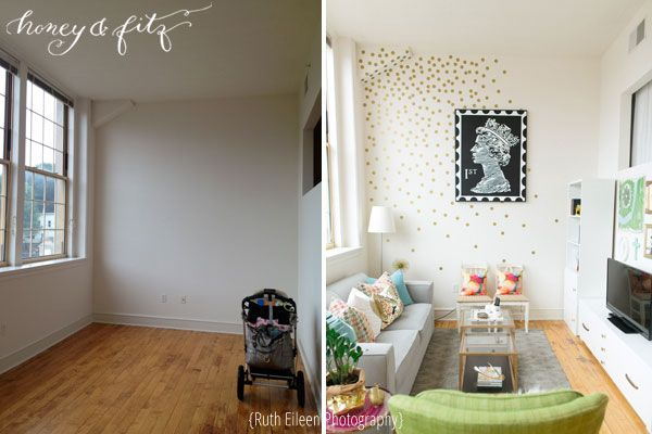 I love this space! Honey-and-Fitz-Ruth-Eileen-Before-and-After-Living-Room