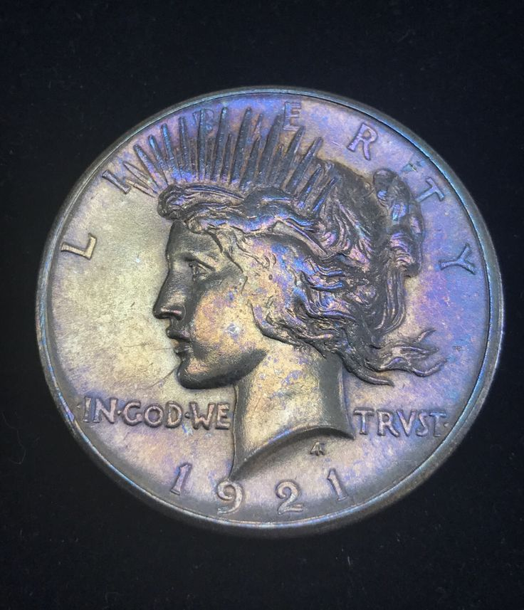 1921 High Relief Peace Dollar AU,  Artificial Toning by CoinLovers on Etsy https://www.etsy.com/listing/520572499/1921-high-relief-peace-dollar-au