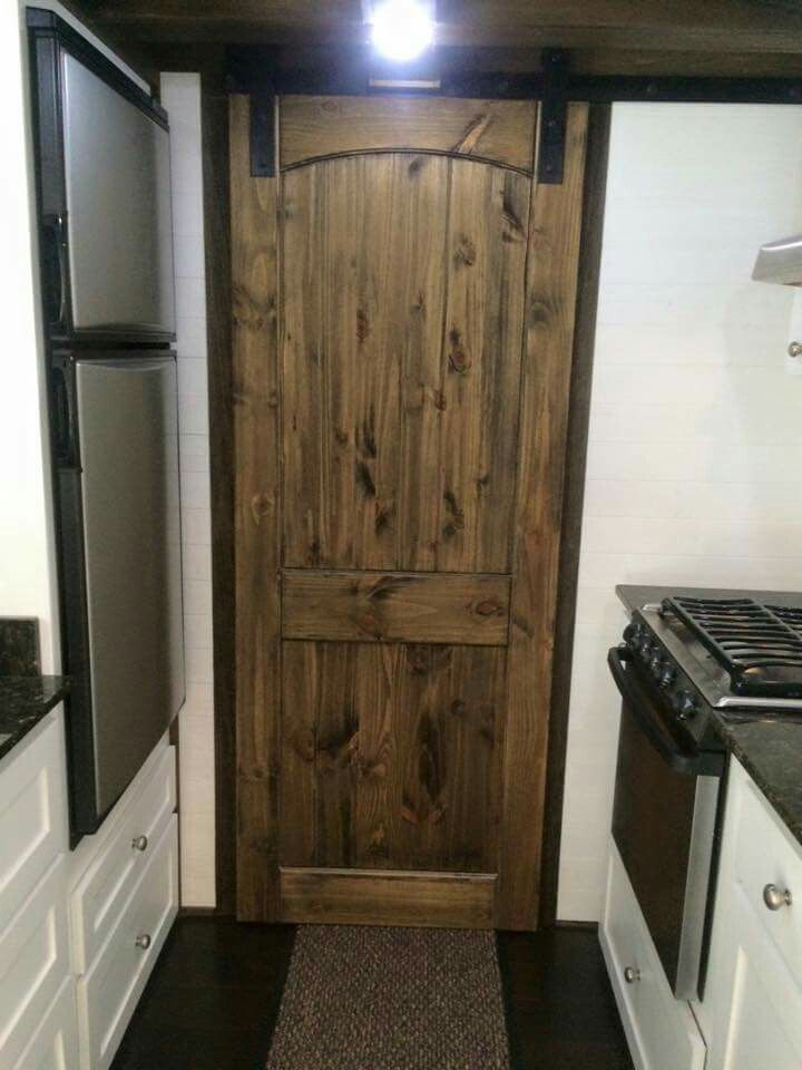 I love this tiny house pocket door for the bathroom.  http://tinyhousechattanooga.com/site/gallery/