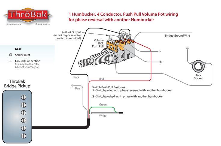 ThroBak Humbucker Guitar Pickup Push Pull Phase Switch