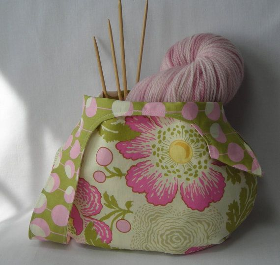 japanese knot bag - knitting project bag - crochet project ...