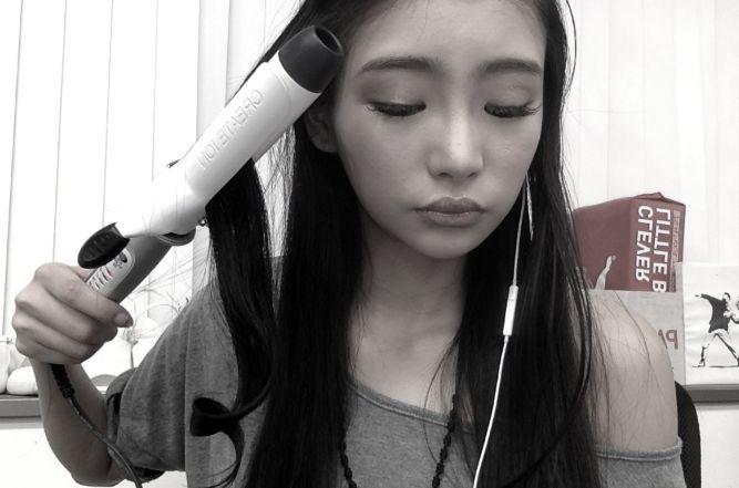 yuria kushido - hair curling tutorial