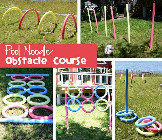 Poolnoodleobstaclecourse By Kirstenreese Via Flickr Kid 39 S Learning And Fun Pinterest