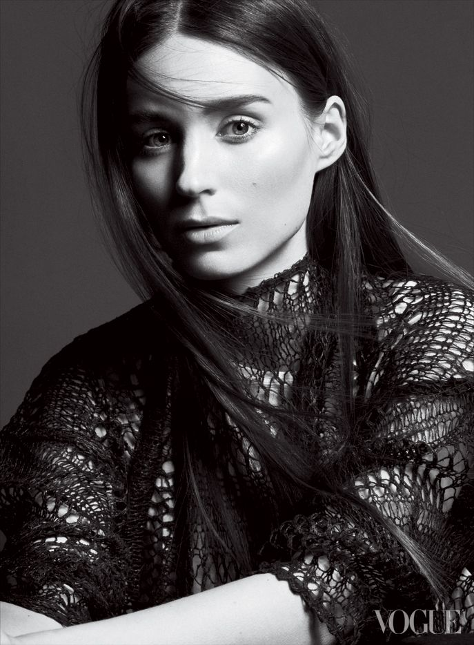 Rooney Mara for Vogue February 2013 by David Sims, straight hair, long hair, mid-length.  She is so beautiful!