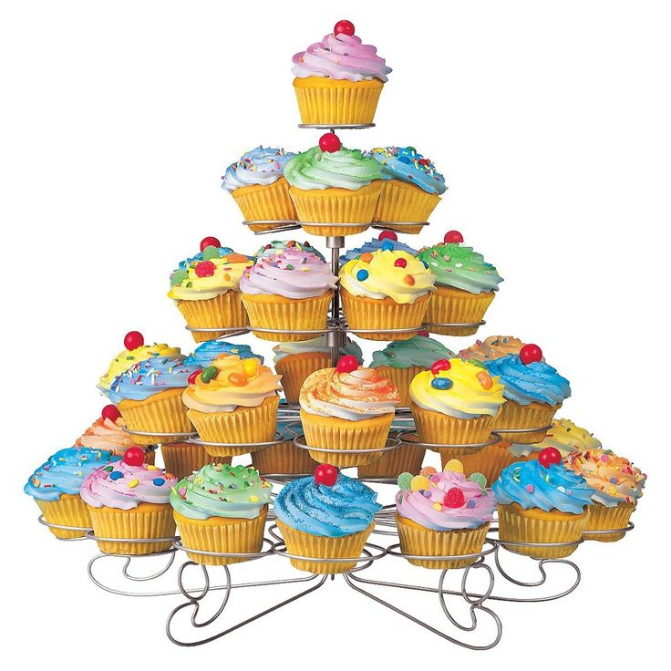 Wilton Cupcakes and More Stand - Silvertone (Holds 38), Slvr