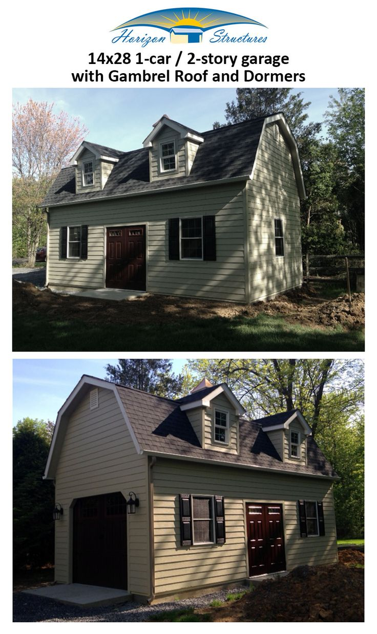 Lancaster pa prefab 2 car garage and 2 story garage manufacturer gears - Horizon Structures Offers A Variety 2 Story Garages With Customizable Options Including Added Living Quarters Dormers Check Out These Prefab Garages