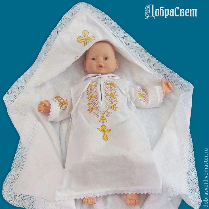 Купить Рубашка для крещения Владимир - белый, крестильная рубашка, рубашка для…