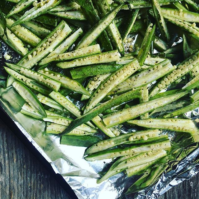 how to cook frozen okra in the oven