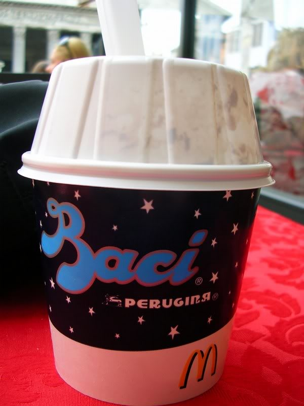 Italy's McDonald's McFlurry Baci UGH!!  Bring this to America!!! pppplease!!!!