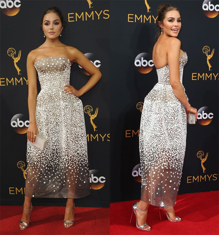 Olivia Culpo at the 68th Annual Primetime Emmy Awards in Los Angeles on September 19, 2016