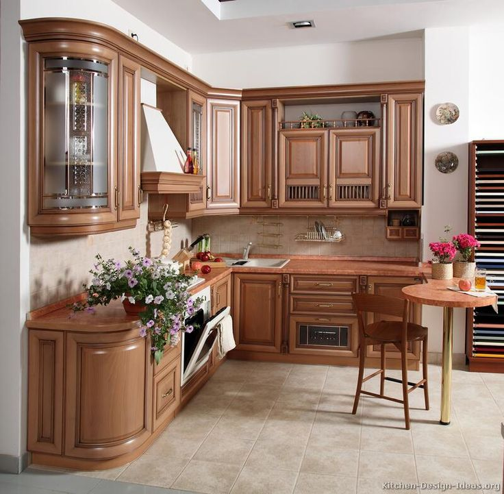 Kitchen Cabinets Not Wood: The Little Table Area Is Interesting... Not Sure If It's