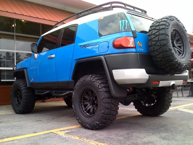 Biggest tires that can fit on spare tire carrier? Toyota