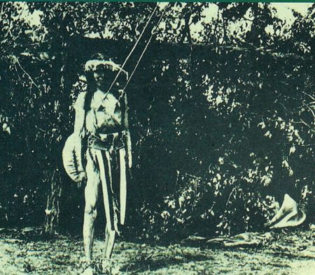 Hanging by Flesh at Sun Dance Festival.The 8 day ritual centered around death and rebirth. Sun Dancers would fast for days, and men would be skewered through their skin, representing the tree of life. The true pain and gore comes with the fact that they would slowly lean back until the skewers would rip through
