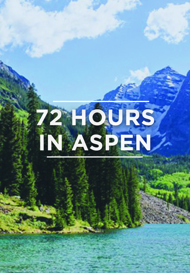 Its rep as America's top ski town is no joke, but Aspen actually hits its peak under the summer sun. Alex Pasquariello has your guide to packing in the town's best shopping, fishing, hiking, dining and drinking in one perfect long weekend