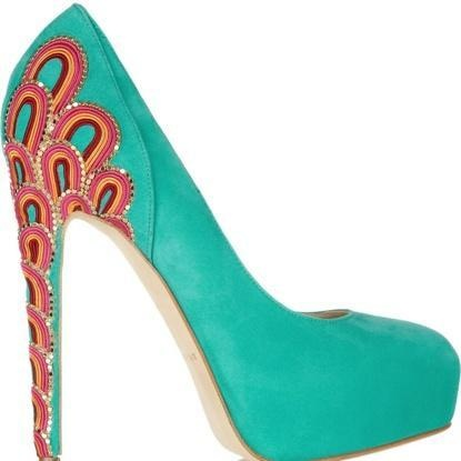 Brian Atwood pumps, love the colour!