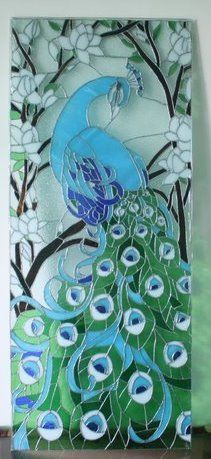 tumblr stained glass peacock patterns | Need peacock picture for glass painting-peacock-panel.jpg