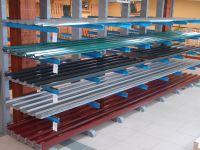 Stahltrapezblech Stärke 0,63mm grau - Artikeldetailansicht - Holz-&Stahlhandel H. Schenk GmbH - Ihr Fachmarkt für Holz und Stahl