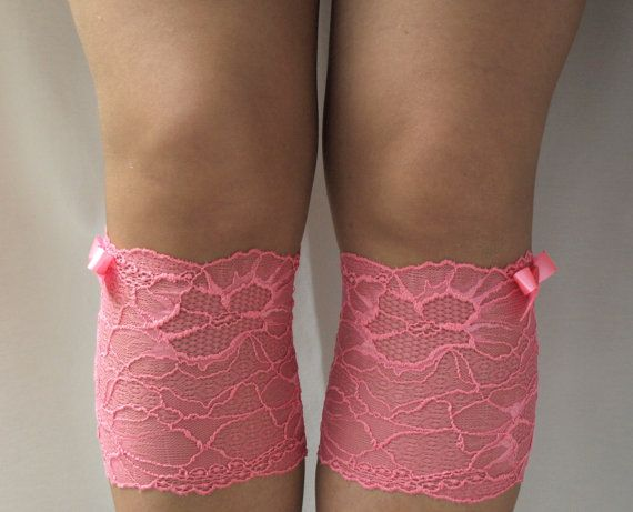 Lace Boot Cuff Socks Pink lace with pink bow  by VANAGScreative, $14.00