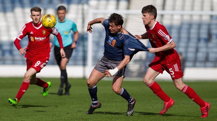 Queen's Park's Kalvin Orsi in action during the Ladbrokes League One game between Queen's Park and Albion Rovers.