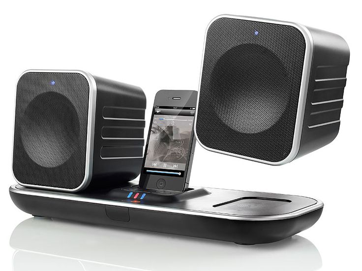 muvid i-FI 90 Funk-Lautsprecher mit iPod/iPhone-Dock + USB Dongle