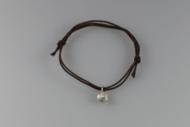 Cute Silver Seashell Bracelet, Delicate bracelet,  Spiral shell, Best Friends Bracelets by NyamiJewelry on Etsy