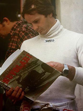 Gilles checking out Tazio's book