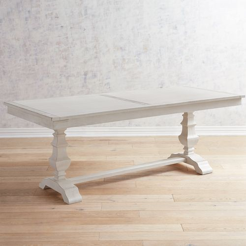 Bradding Rain White Planked 84\u201d Dining Table in 2018 New decor