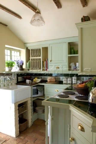 Country Kitchen Green. Best Painted Kitchen Cabinets Mesmerizing ...