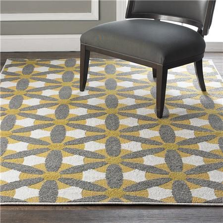 Retro Lemondrop Daisy Indoor Outdoor Rug Please Can I Have