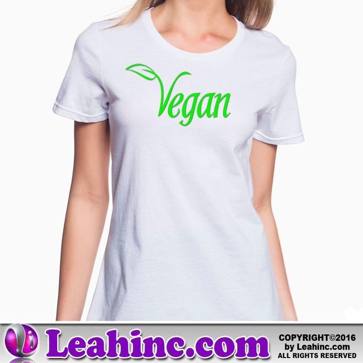 Vegan, Vegetarian, Causes, Men's, Ladies, Shirts, Tees, Vegan Leaf