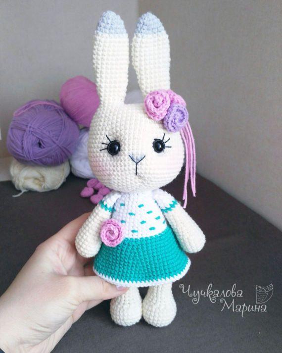 Busya the little bunny PDF pattern crochet toy
