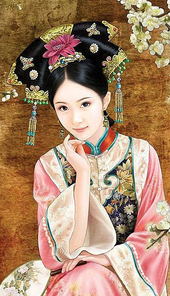 Chinese painting of beautiful woman (中国美人画)