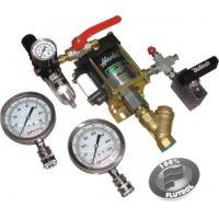 A Flutrol desenvolveu um equipamento para testes hidrostáticos direcionado ao segmento de requalificação de extintores de incêndio. O sistema é basicamente composto por uma bomba hidropneumática Haskel.