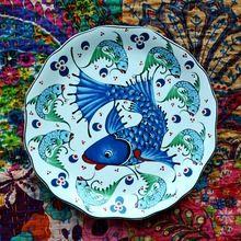 2016 nueva sentimientos amorosos de earendil / turquía auspicioso vajilla de cerámica / próspera nine fish plato pequeño / comida occidental(China (Mainland))