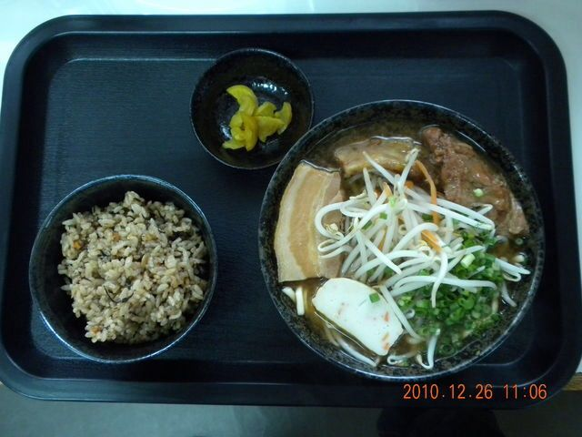 「漫天そば」の味噌肉野菜そばとじゅーしー