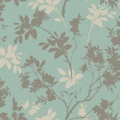 Arthouse eco divine motif blue floral wallpaper the o for B q dining room wallpaper
