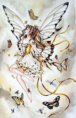 plaatje van een vlinderfee