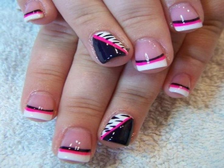 Short French Tip Acrylic Nails - http://www.mycutenails.xyz/ - Best 25+ French Tip Nail Designs Ideas On Pinterest Sparkly