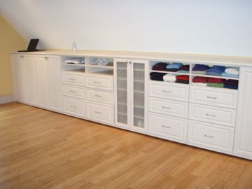 Knee wall armoire