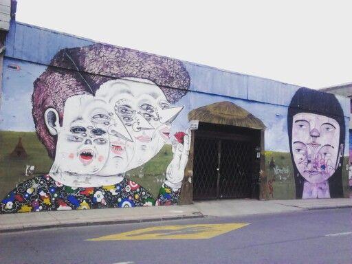 Street Art Chile Barrio Yungay / Arte Callejero Barrio Yungay Santiago de Chile