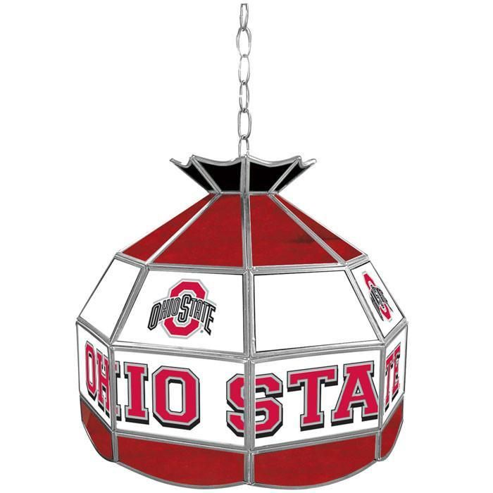Trademark Commerce LRG1600-OSU The Ohio State Glass Tiffany Lamp - 16 inch diameter