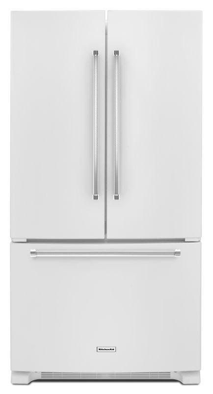 kitchenaid krfc300e 36 inch wide 20 cu ft french door with interi white