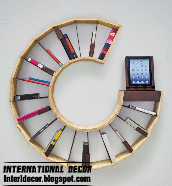 Creative bookshelves and modern modular designs ideas