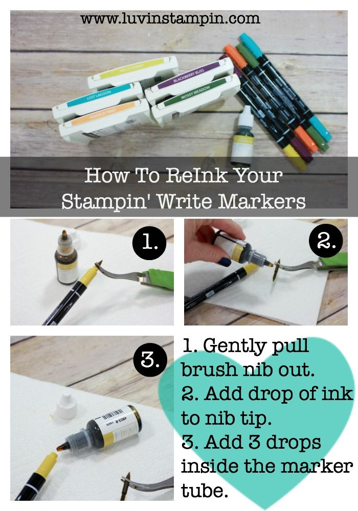 Learn how to reink your Stampin' Write markers from Stampin' UP!. Super simple. Wendy Cranford www.luvinstampin.com
